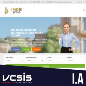 Site Imobiliária - Mod. A 9