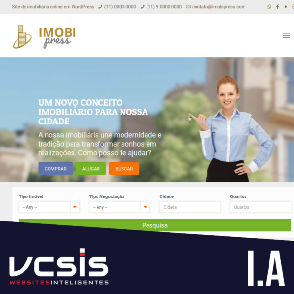 Site Imobiliária - Mod. A 1